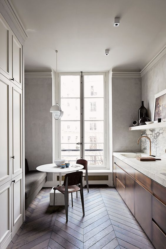 Neutral colour palette for small spaces