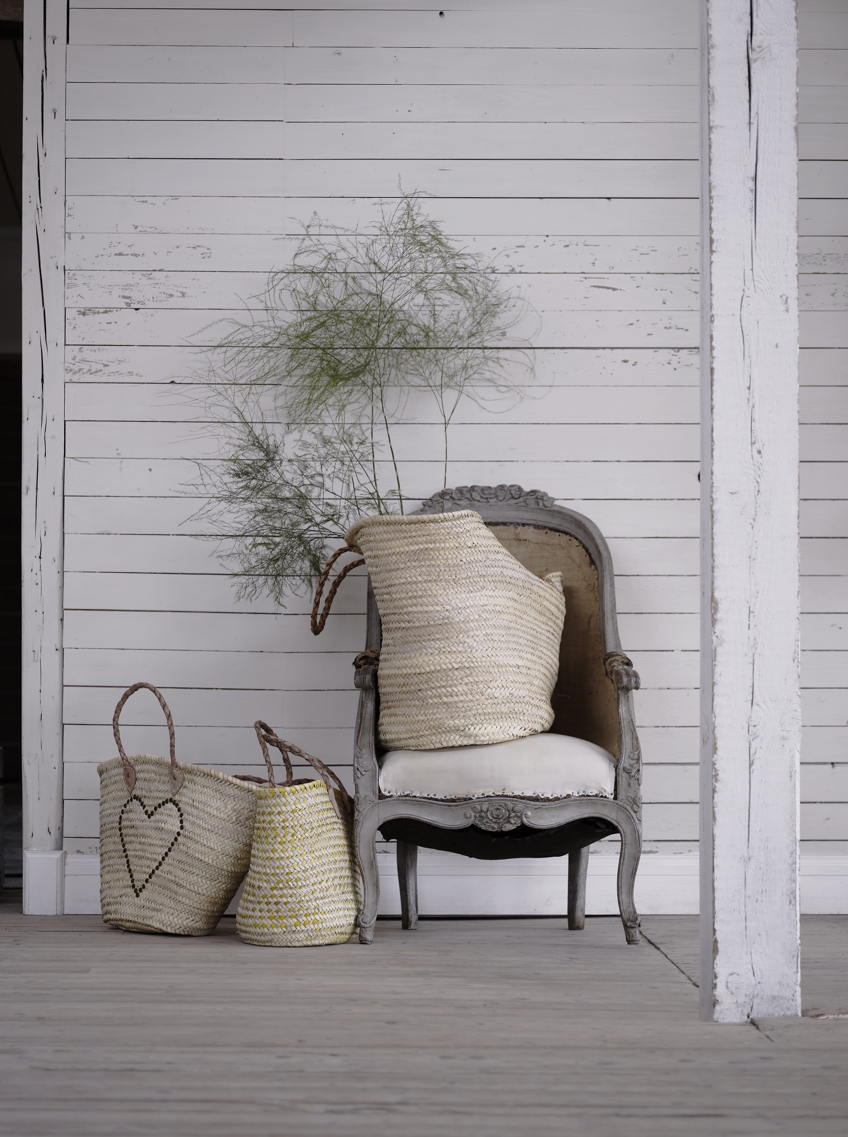 Lifestyle image of extra large Moroccan baskets