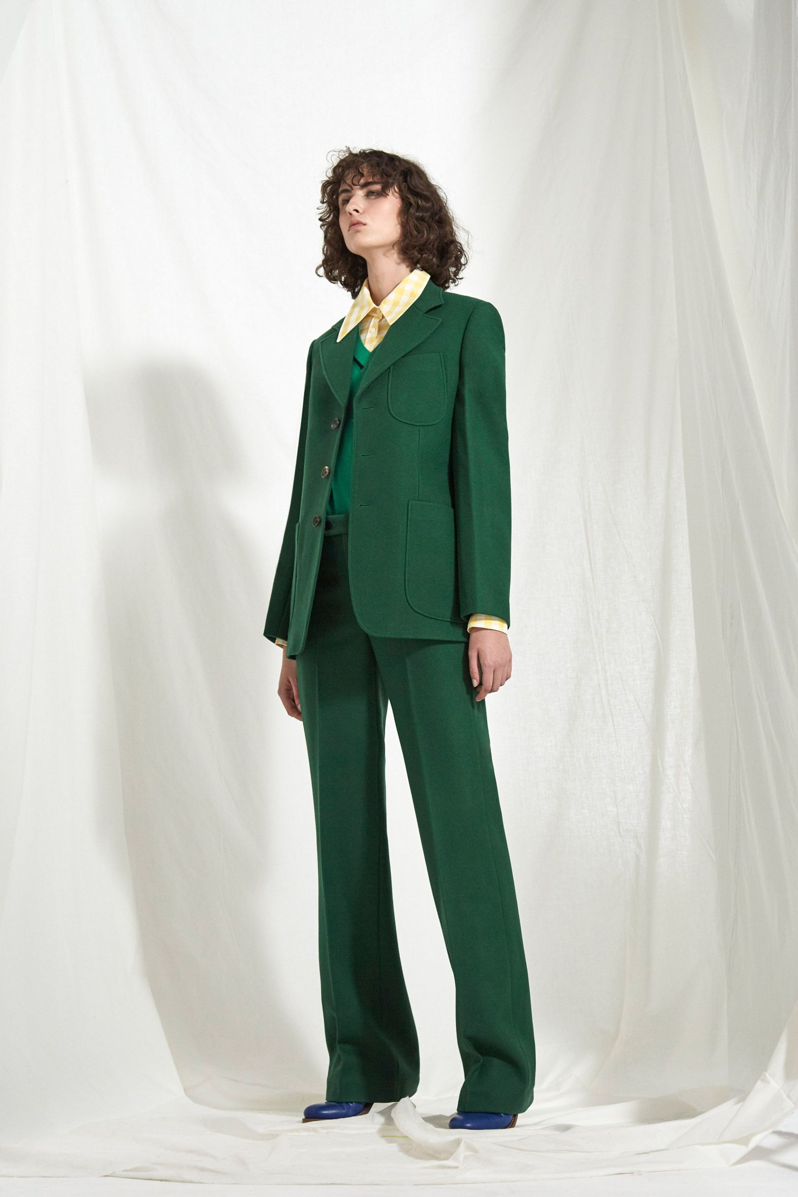 Green fashion shot from joseph resort 2018 collection