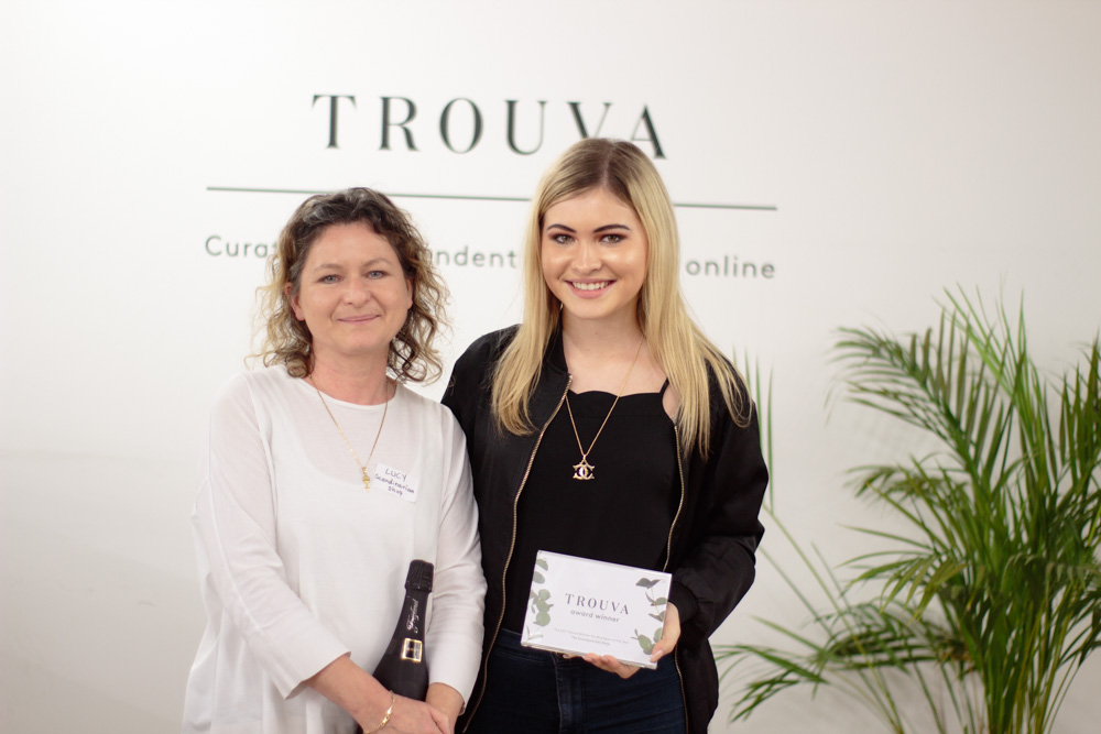 Winners of the Trouva Boutique of the Year 2017 from the Scandinavian shop show off their award
