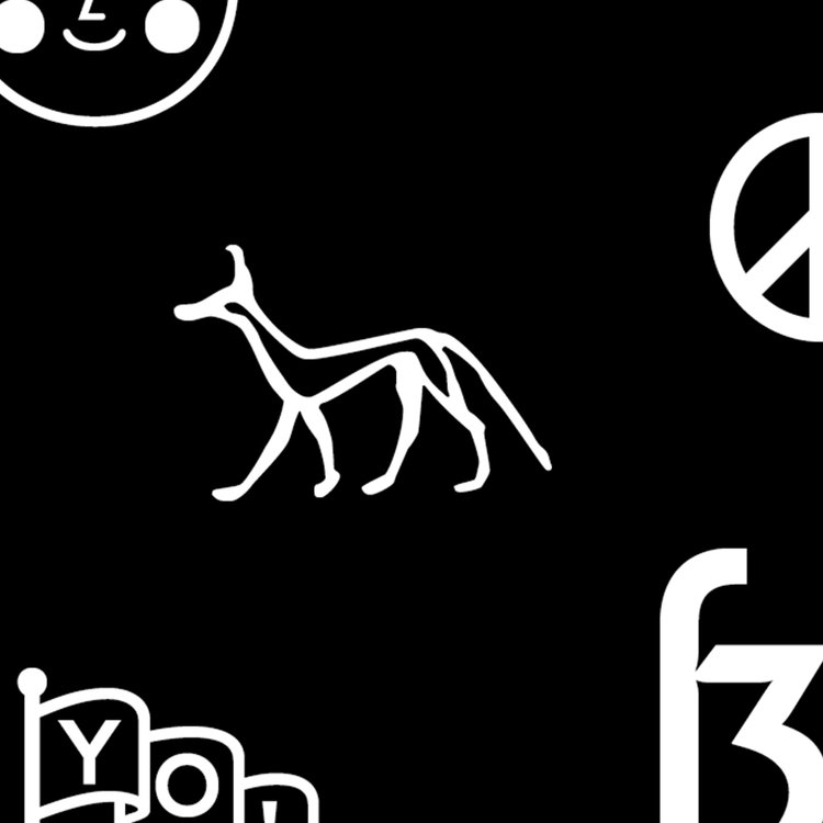 A hidden character from a font bar, highlighting the brief given by iyouall for their limited edition posters